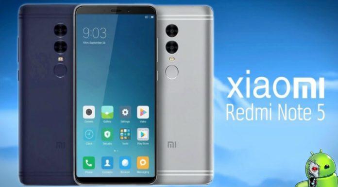 Xiaomi Redmi Note 5 Vazado