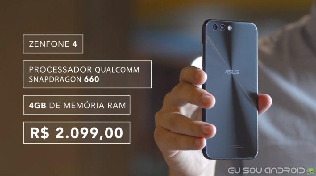 novo zenfone 4 snapdragon 660 e 4GB de RAM 2099