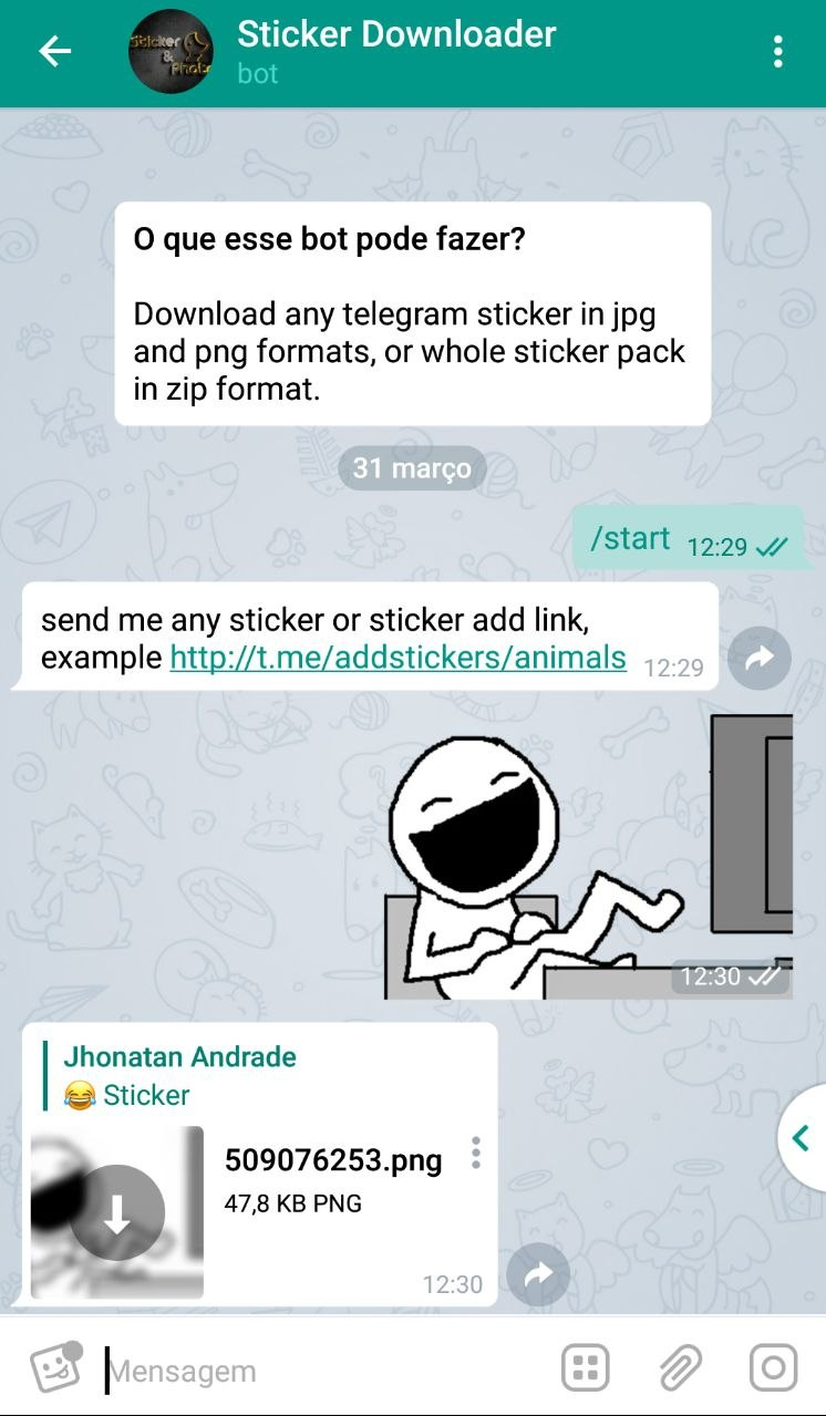 Como Baixar Stickers do Telegram