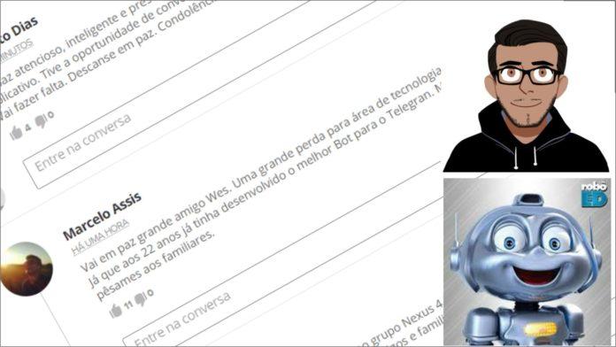 Wesley Henrique criador do EdRobot morreu
