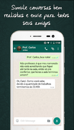 WhatsFake Fingir Conversa Chat