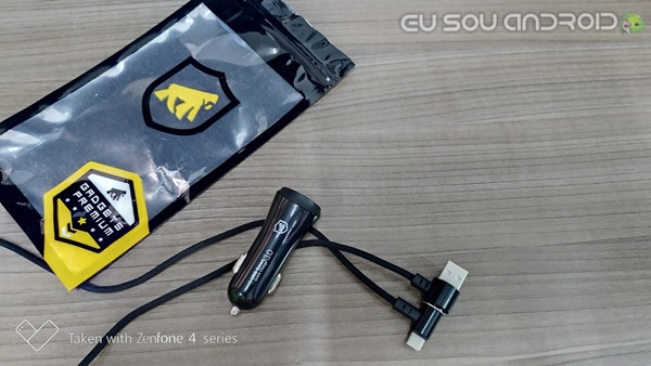 cabo magnetico Carregador Veicular FAST CHARGER gorila shield