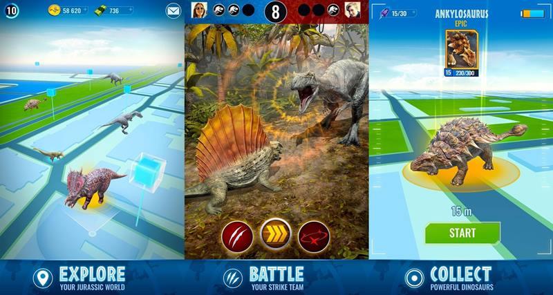 urassic World Alive oferecerá uma jogabilidade de Pokémon Go-style