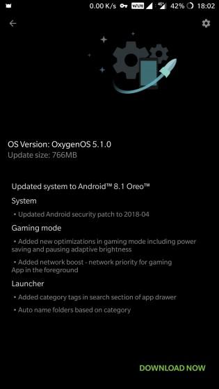 Android 8.1 Disponível para o OnePlus 5/5T