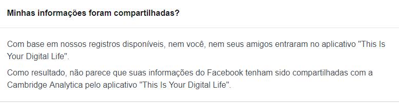 dados do facebook eu sou android