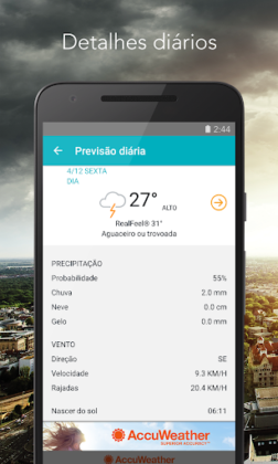AccuWeather - mapas do clima e rastreador do tempo