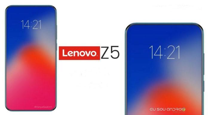 Lenovo Z5 Chegando oficialmente em 5 de junho