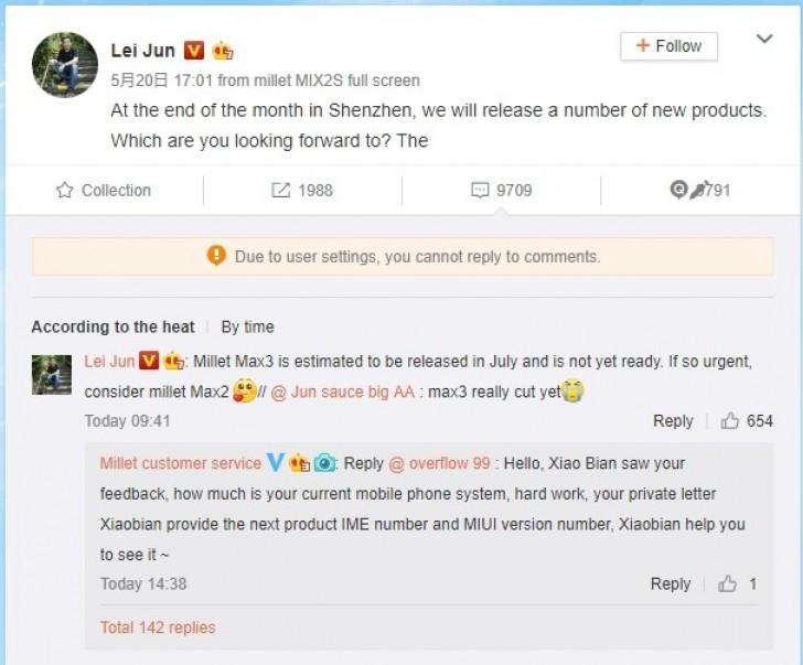Mi MAX 3 Chega em Julho, diz CEO da Xiaomi 1