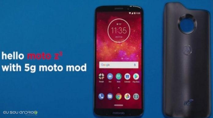 Moto Z3 Play com 5G Moto Mod Aparece em Novas imagens