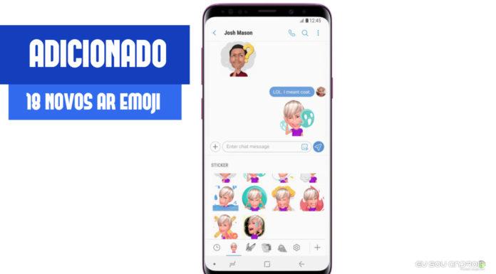 Samsung Lança 18 Novos AR Emoji para o Galaxy S9 e S9 Plus