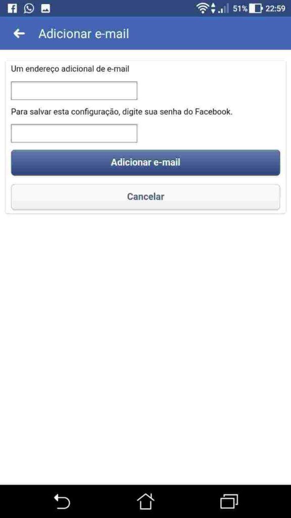 Como Alterar Email do Facebook