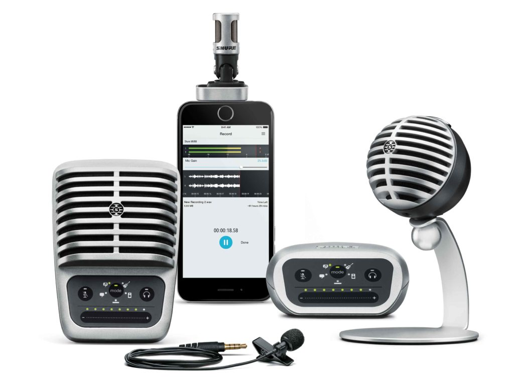 shure chegou ao mercado livre linha microfone