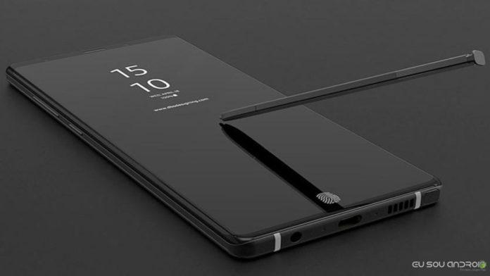Case do Samsung Galaxy Note 9 Mostra a Nova Posição do leitor de Impressão Digital