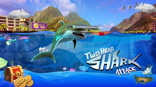 Ataque de tubarão cabeça dupla
