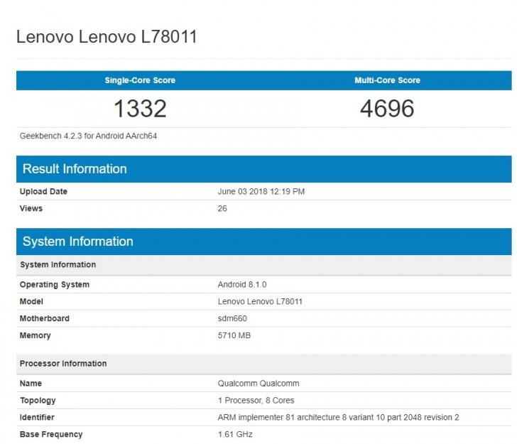Lenovo Z5 Vazou com Uma Moldura Inferior