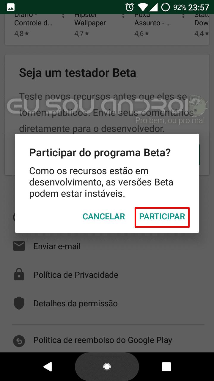 Como se tornar testador beta de qualquer app
