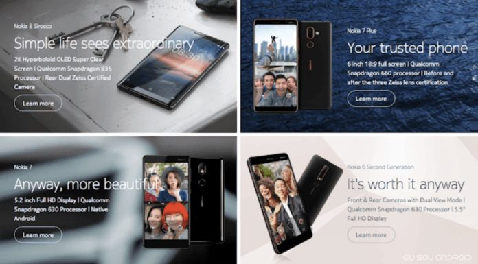 Quatro Telefones da Nokia recebem o Android P Beta na China