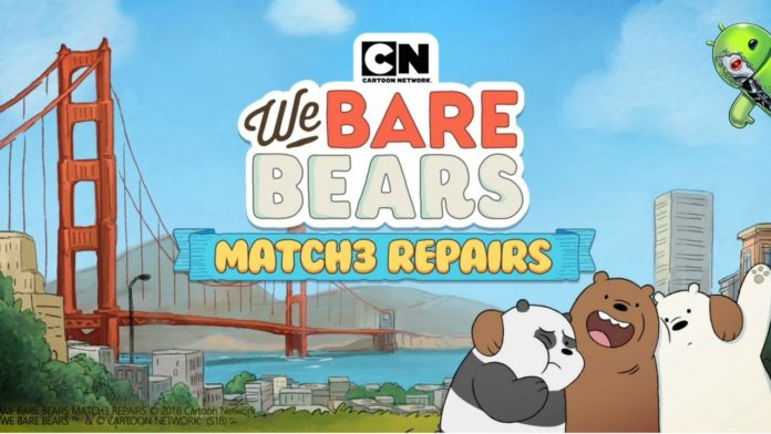 We Bare Bears Match3 Repairs Disponível para Android