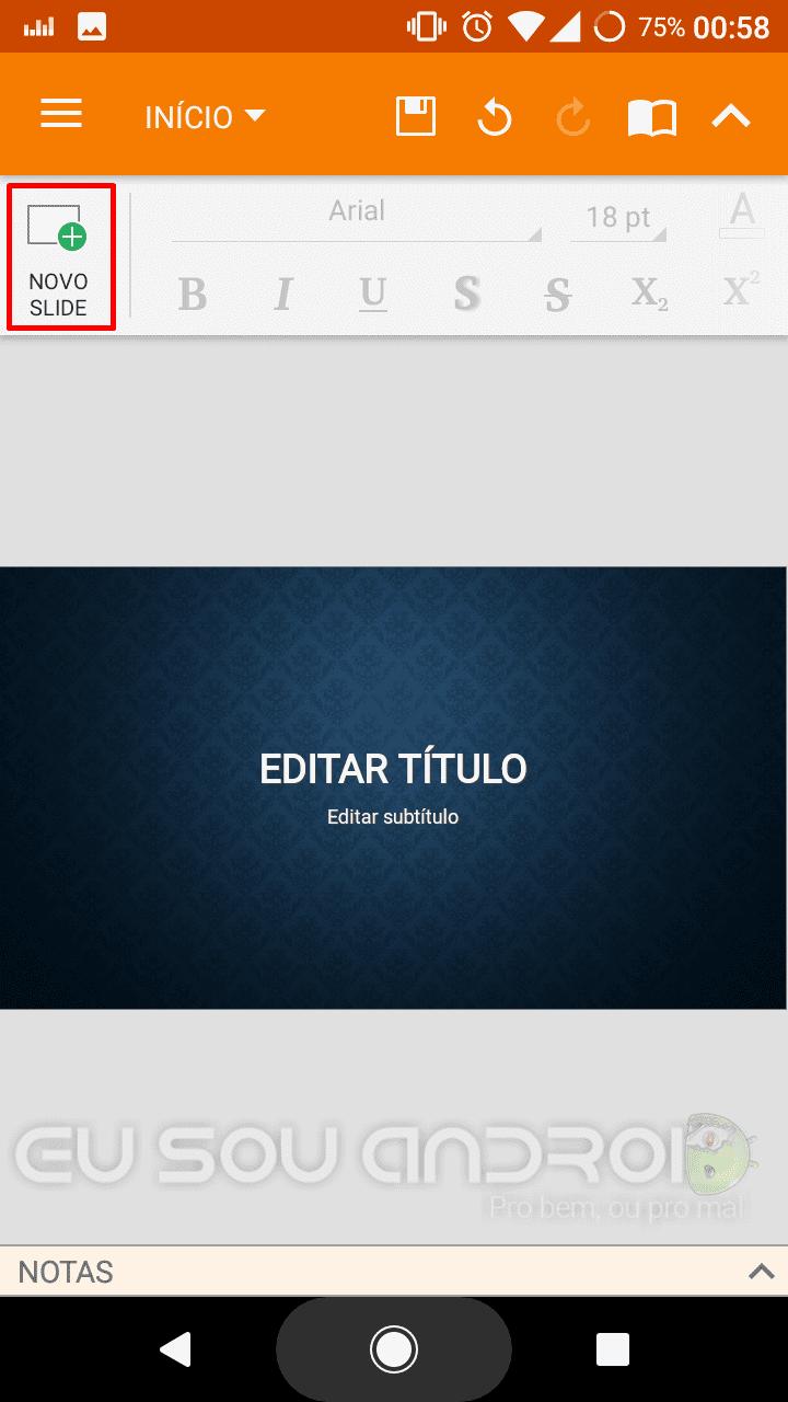 criar slides