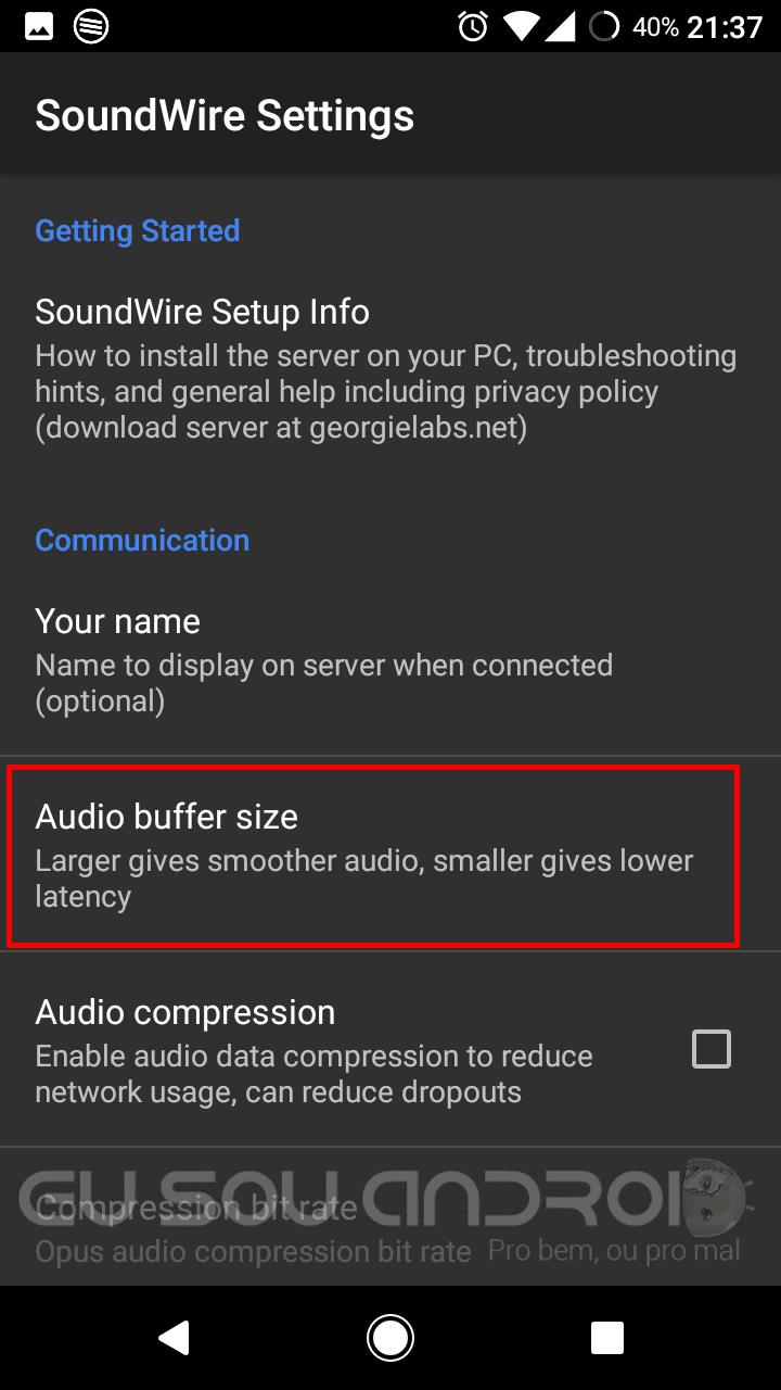 qualquer Android como caixa de som
