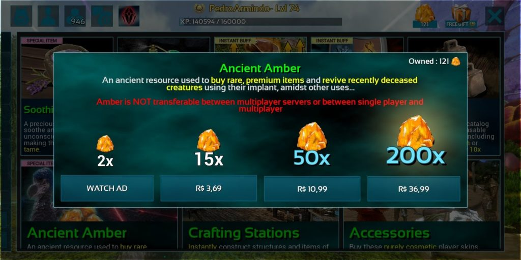 Anuncios que dão amber ark mobile-compressed