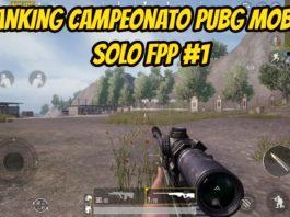 Ranking Campeonato PUBG Mobile SOLO FPP