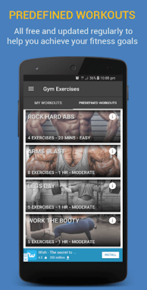 Gym Exercises & Workouts