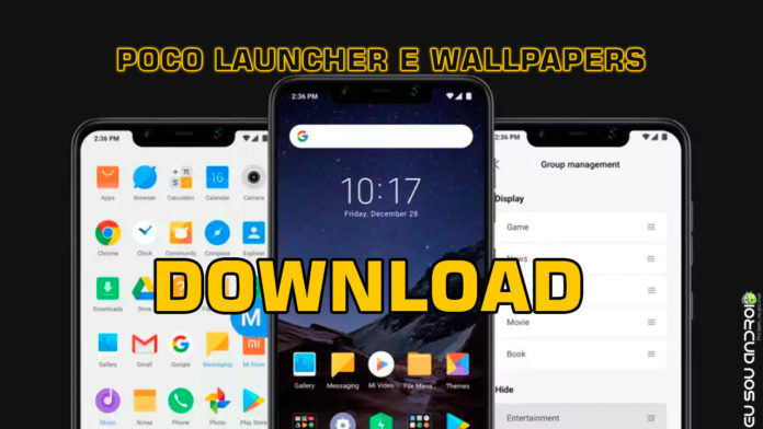 Launcher e Wallpapers do POCO F1 launcher capa