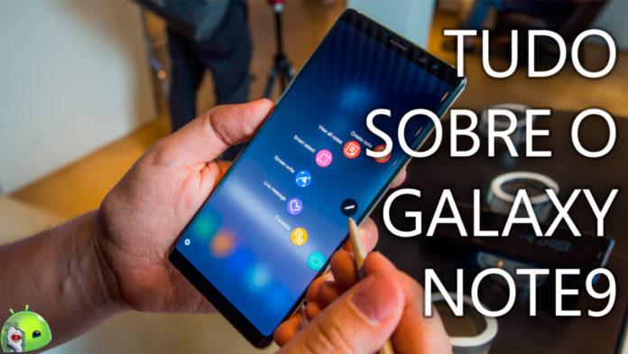 Samsung Galaxy Note9 lançado capa