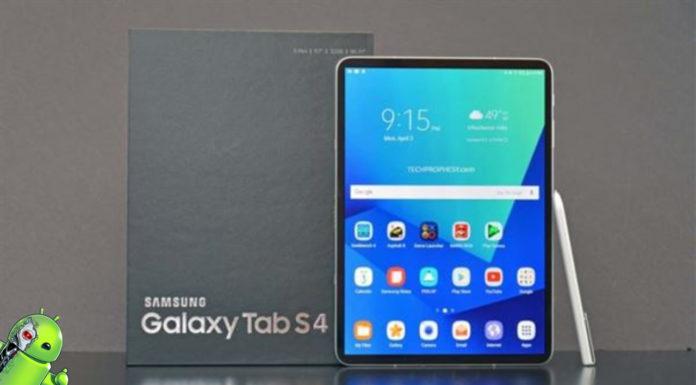 Samsung Galaxy Tab S4 é Laçando com 4GB de RAM