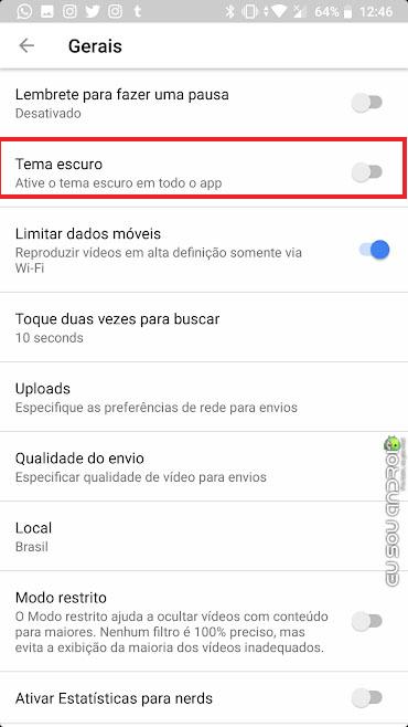 Aprenda a ativar o modo escuro no YouTube do Android (2)