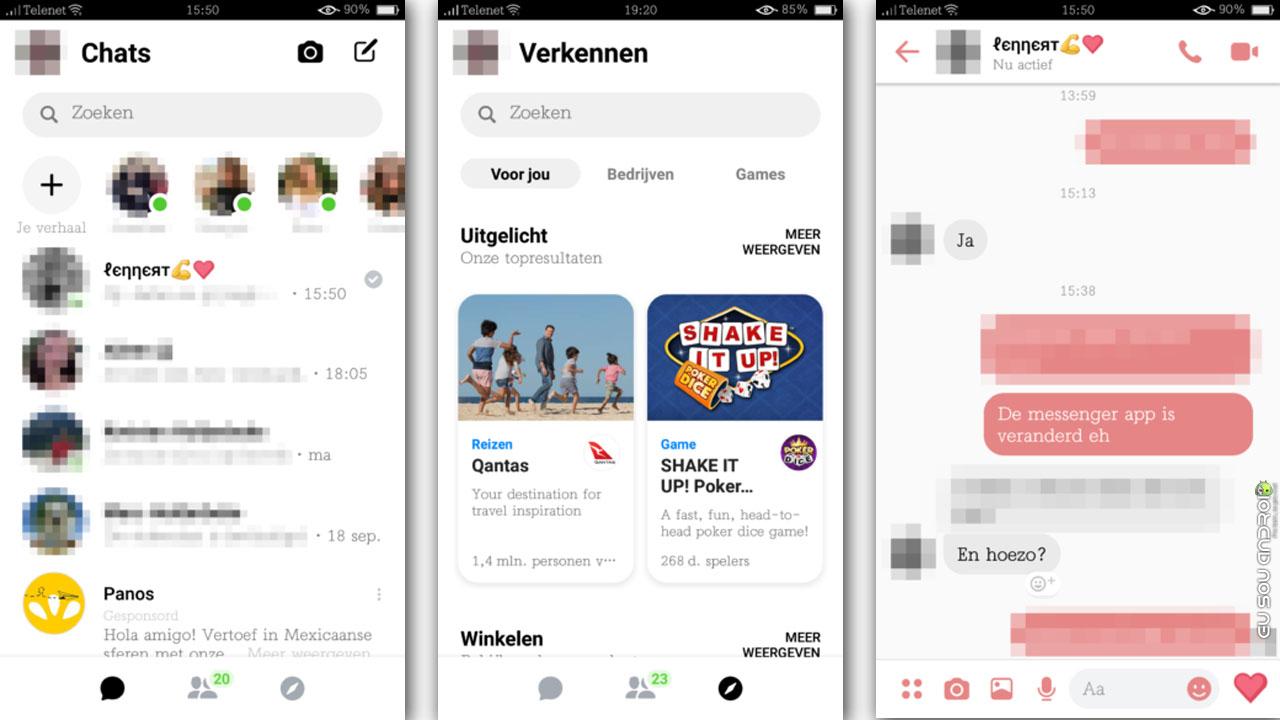 Facebook Messenger vai ganhar modo noturno e design mais organizado capa 2