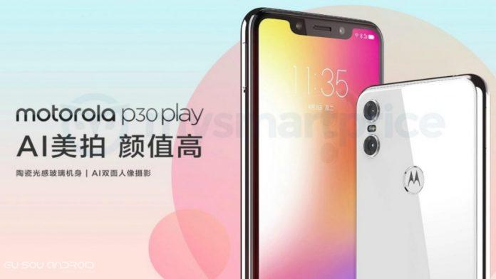 Motorola P30 Play Aparece no site da Motorola, sugerindo que o lançamento está próximo