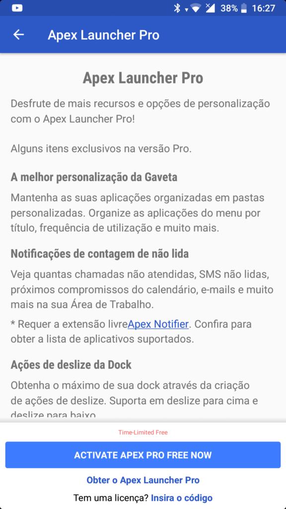 Apex Launcher PRO Grátis 1