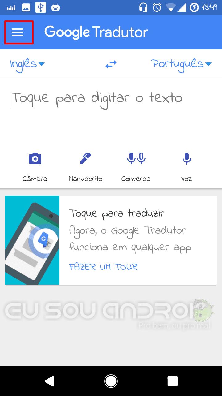Google Tradutor sem Internet