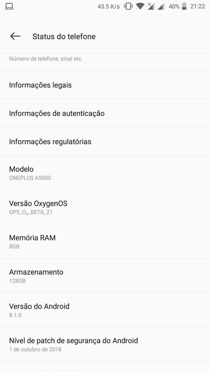 A versão do Android determina quais aplicativos você pode usar