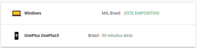 Gerenciar Conta do Google