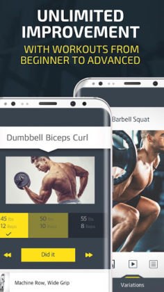 Gym Workout Tracker & Trainer for weight lifting