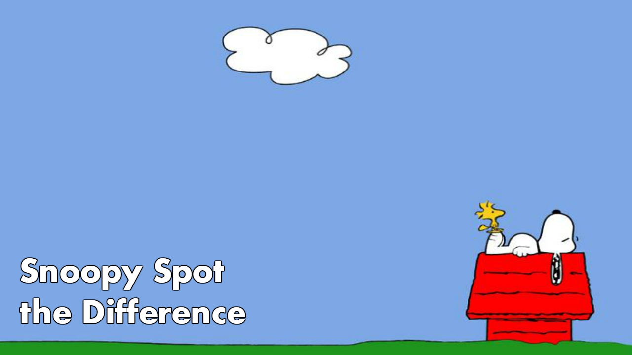 Snoopy Spot the Difference