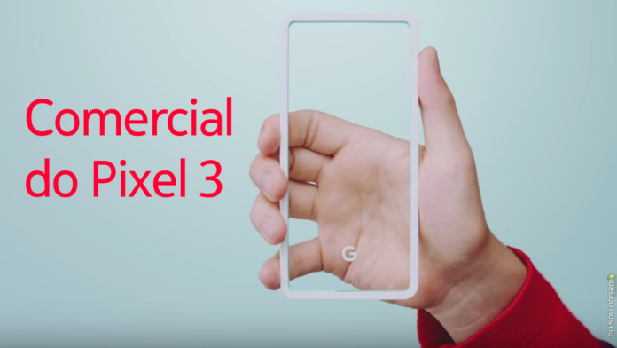 comercial do pixel 3 capa
