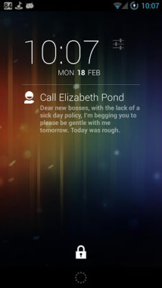 DashClock Contact Extension
