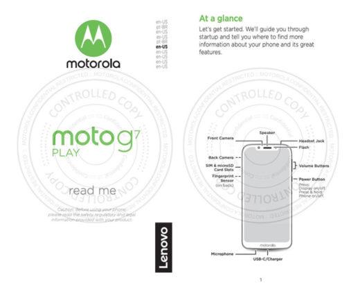 Fotos do Moto G7 Play