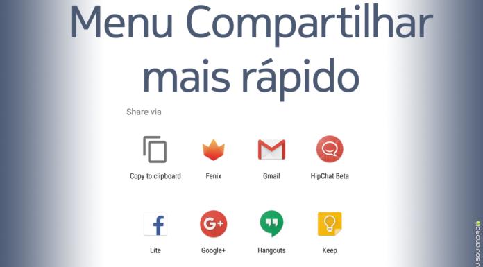 Menu Compartilhar Vai Ficar Mais Rápido no Android capa 1