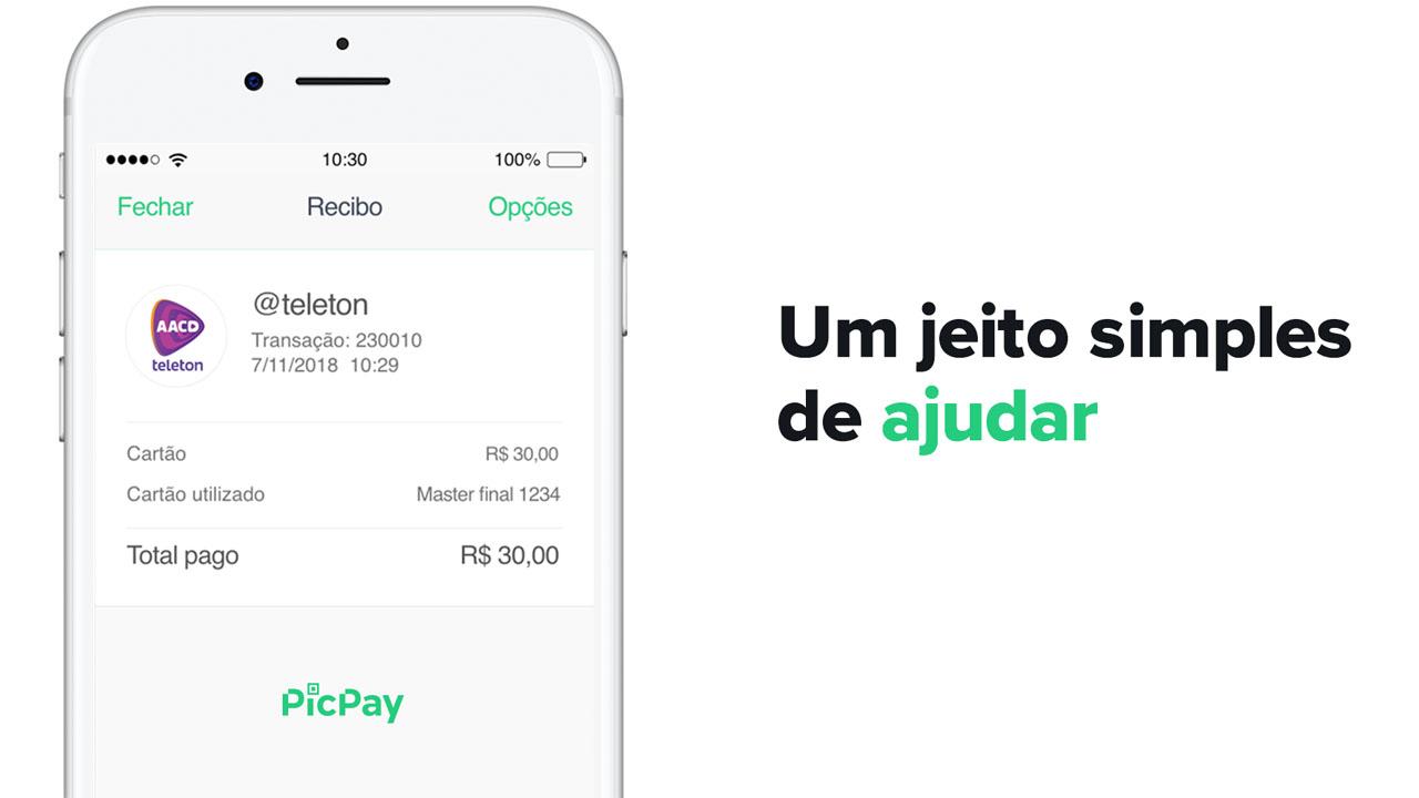 PicPay cria campanha criativa para doar 100 mil reais para o Teleton! capa 2