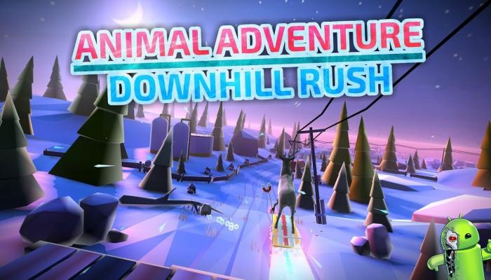 Animal Adventure: Downhill Rush Winter Racing Game