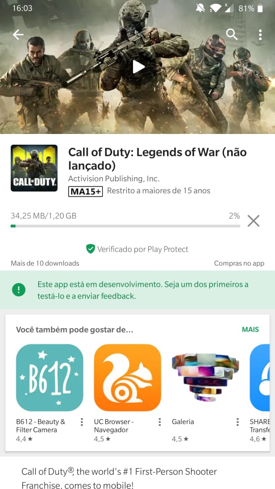 Call of Duty chegou para Android (1)