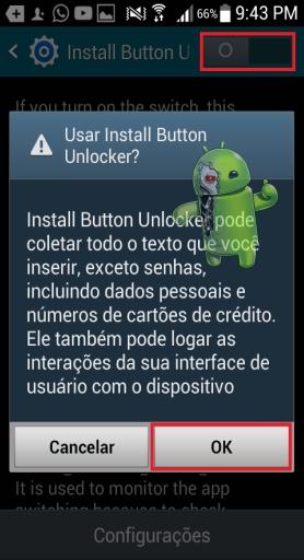 Como resolver o problema do botão de instalação bloqueado no Android