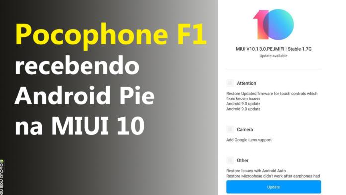 Pocophone F1 está recebendo Android Pie na versão final capa 1
