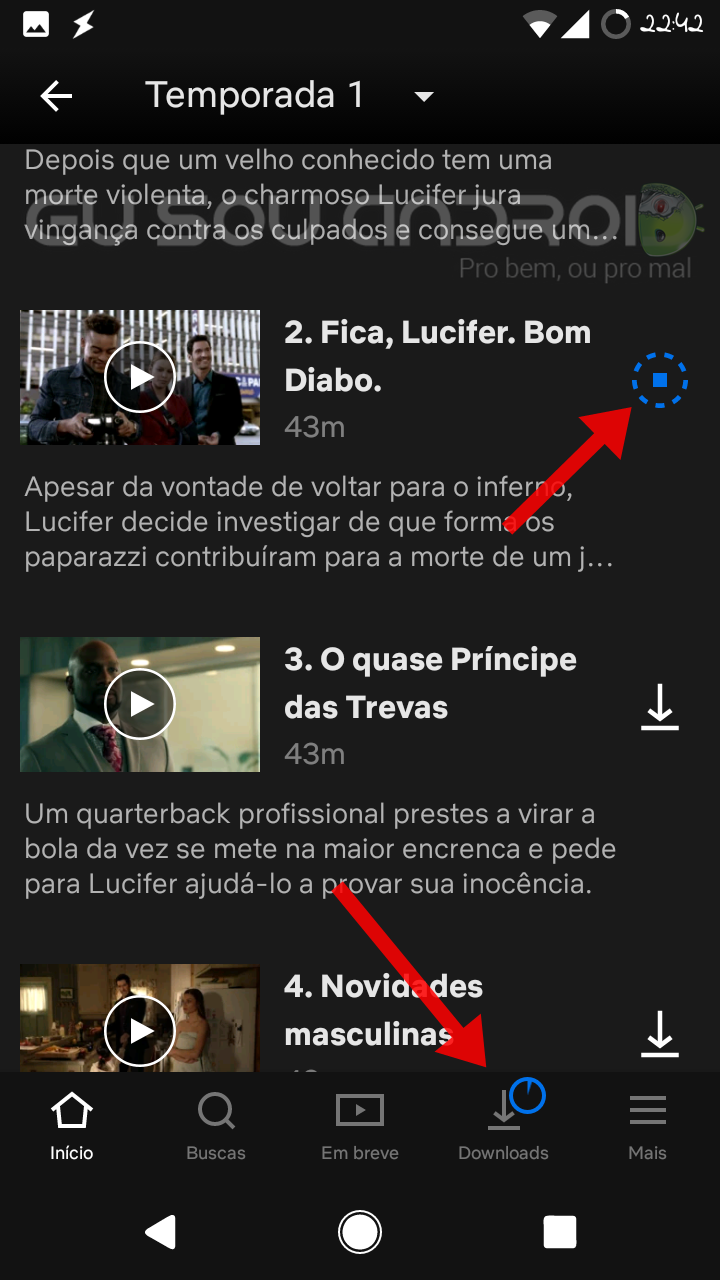 fazer download de series