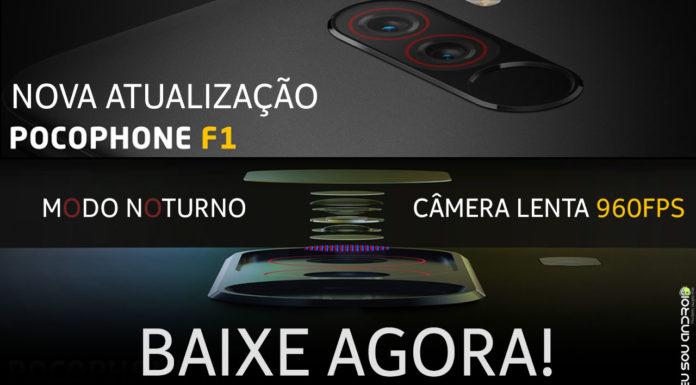 ATUALIZE JÁ! Pocophone F1 Recebe Atualização com Câmera com Modo Noturno e Lenta 960FPS CAPA